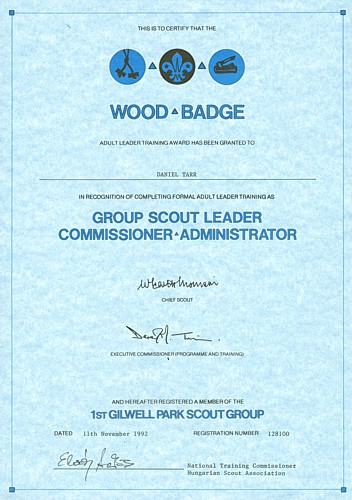 Wood Badge Scout Commissioner